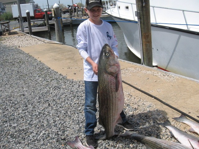 BIG Catch For This Young Man! Maryland Chesapeake Bay Fishing Charters
