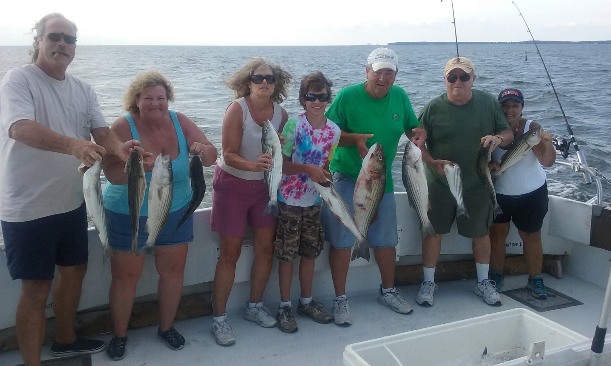 Maryland Light Tackle Fishing Charters For Striped Bass
