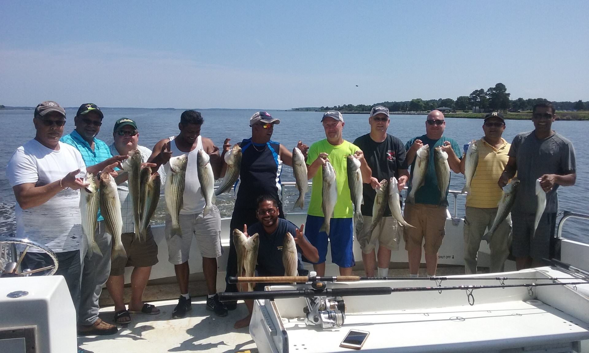 Maryland Charter Fishing for Rockfish!