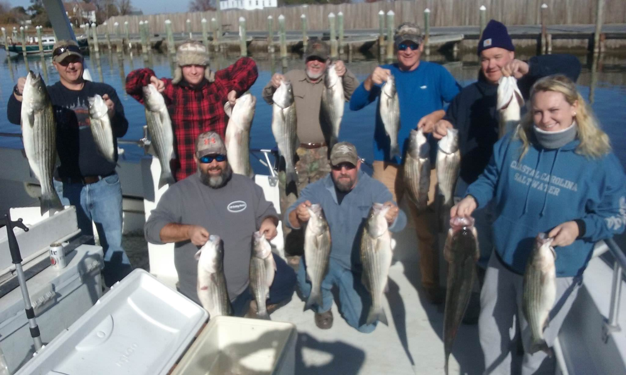 Black Friday Fishing Action On Maryland's Chesapeake Bay!