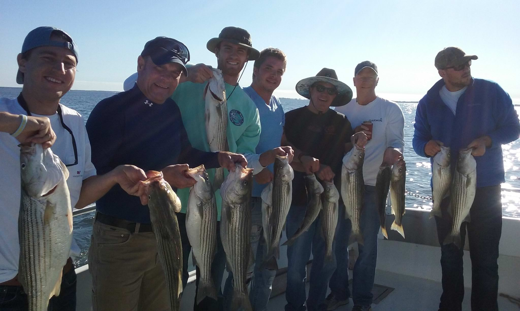 Another Happy Crew With A Limit Of Maryland Rockfish!